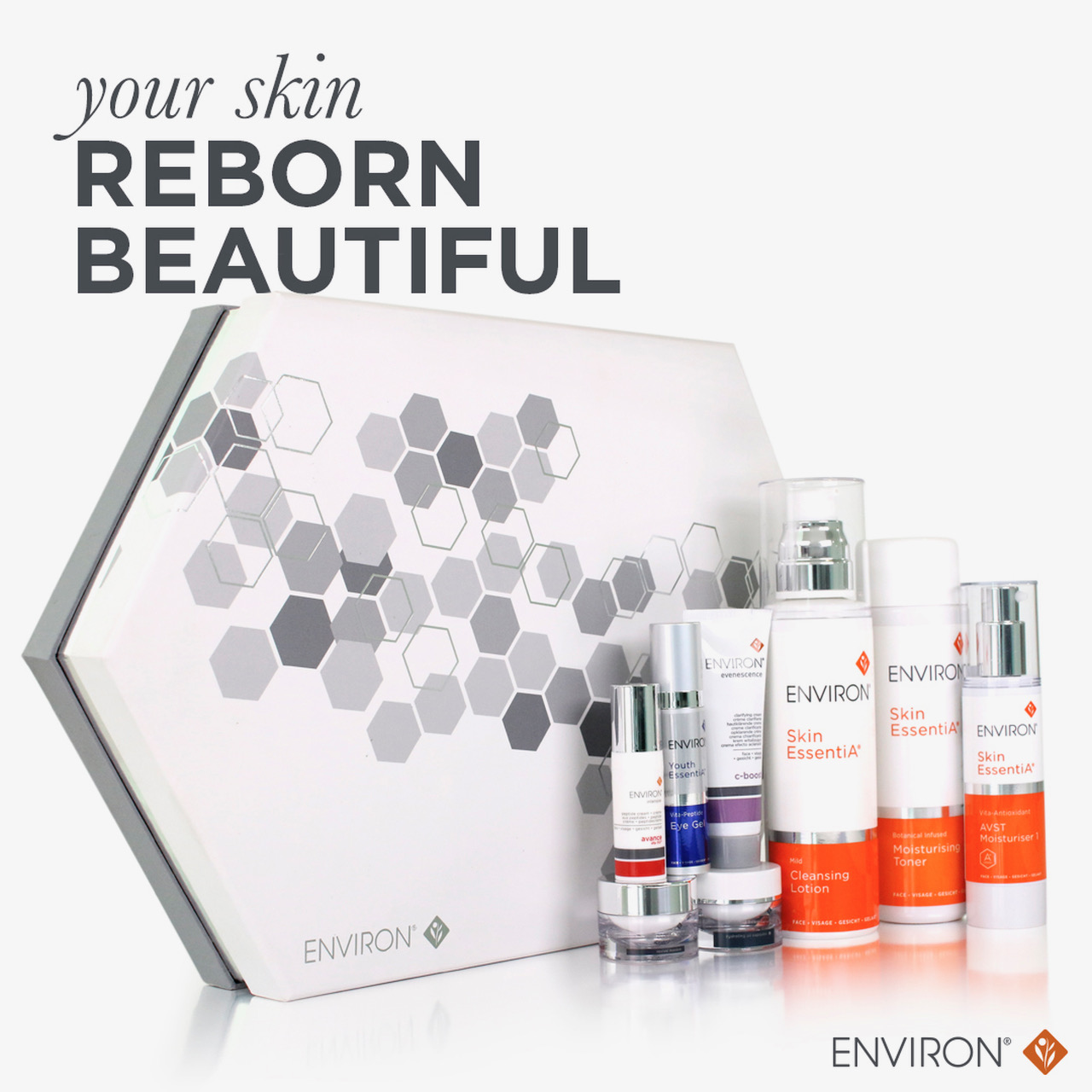 Advanced skincare brand, Environ, for mobile facial treatments in London.